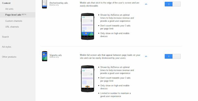 Gunakan Adsense Page-level Ads Untuk Meningkatkan Pendapatan Anda Dari Google Adsense