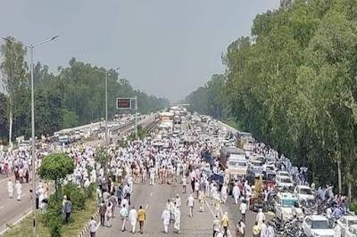 Farmers protest in Haryana