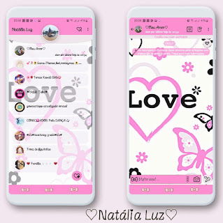 Loves & Butterfly Theme For YOWhatsApp & Fouad WhatsApp By Natalia Luz