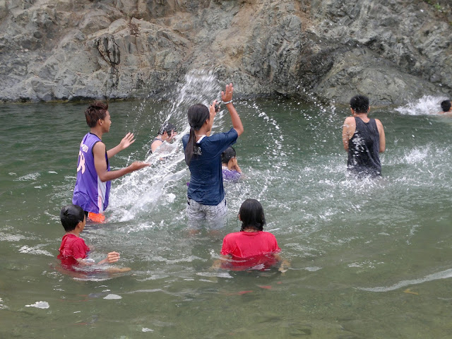 swimming at canding river