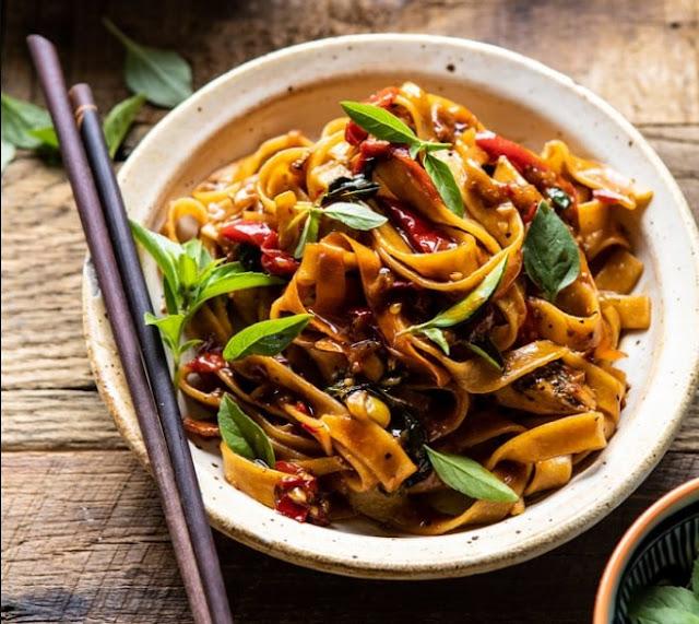Thai Drunken Noodles (Pad Kee Mao) #dinner #recipes