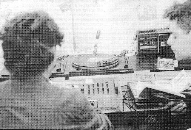 Fent Ràdio Corcó (o Korkó) l'any 1989.