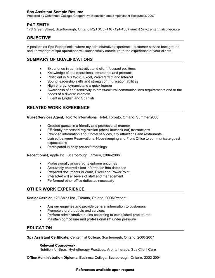 Samples Of Receptionist Resumes 2019 Resume Templates