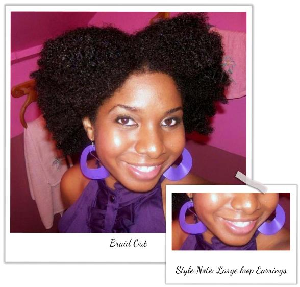 I Am Wearing A Braid Out On About 9 10 Inches Of Natural Hair Used Worlds Curls Activator Gel And Aloe