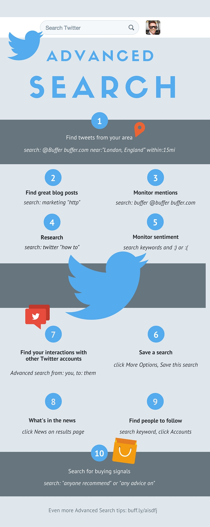 The Superhuman Guide to Twitter Advanced Search - #infographic