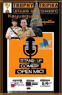 Punya Bakat, Ikuti 'Stand Up Comedy Kayuagung Competition'