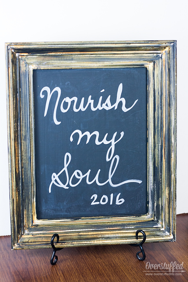 Choosing my 2016 Word of the Year was difficult, but it finally came to me: Nourish