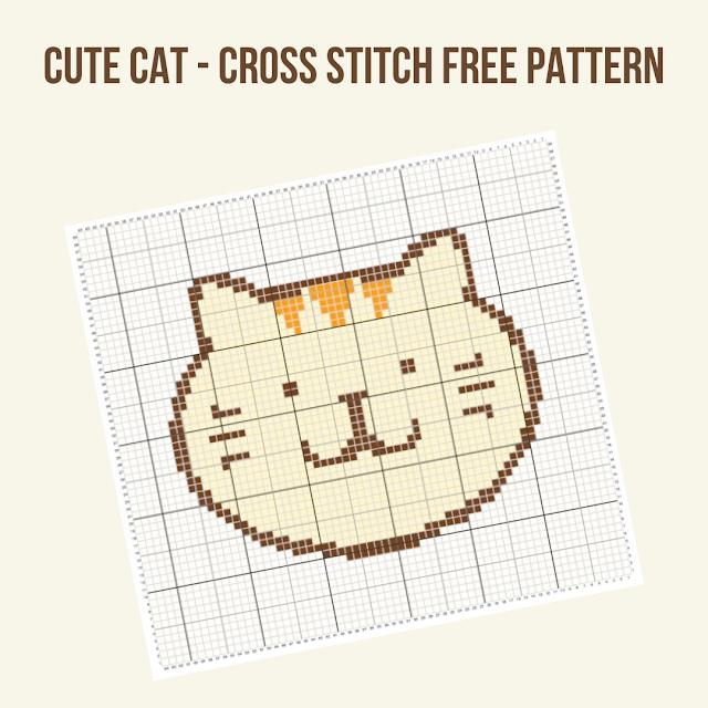 Cute Cat - free cross stitch pattern