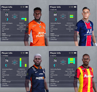 PES 2021 Facepack Ligue 1 Vol 7