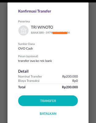 Transfer ke rekening