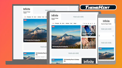 Infinite Premium Blogger Template by Kamran Jaisak