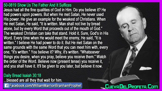 An example for the weakest of Christians - William Branham Quotes