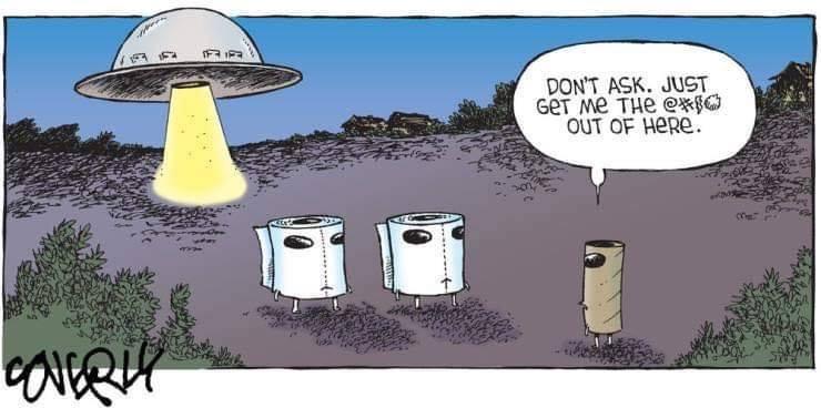 Silly Bunt: Toilet Paper Aliens Cartoon
