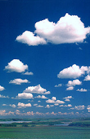 Göklere adını yazdım şiiri-mavi gökyüzü bulutlar ve doğa manzarası