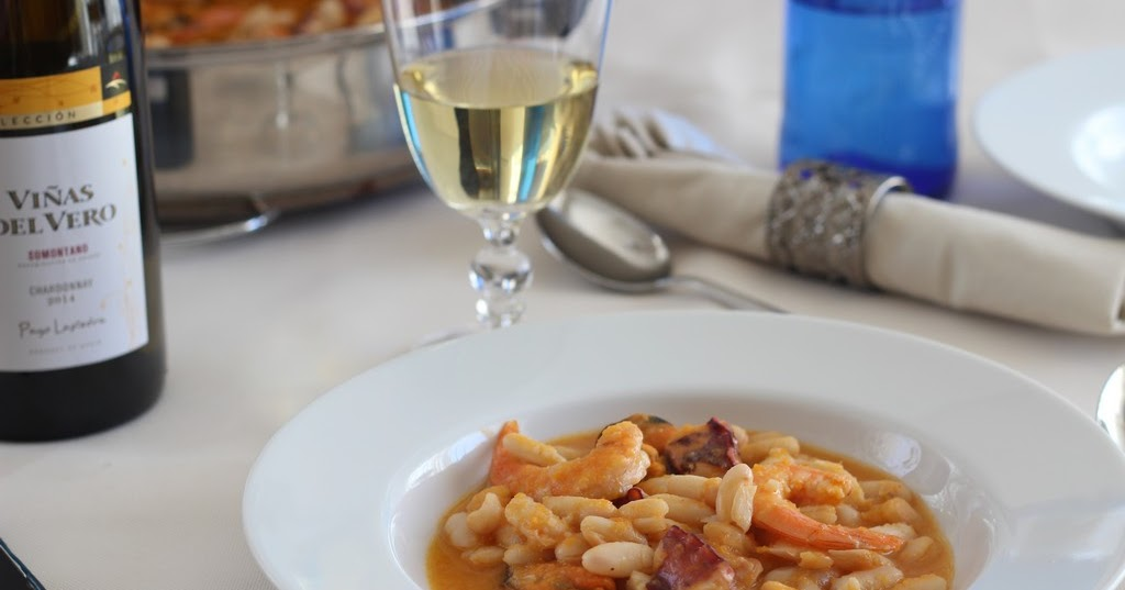 La cocina de aficionado alubias con marisco - Calorias alubias cocidas ...