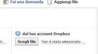 Condividere file nei gruppi Facebook con Dropbox