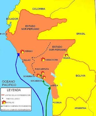Batallas de la confederación Perú Boliviana