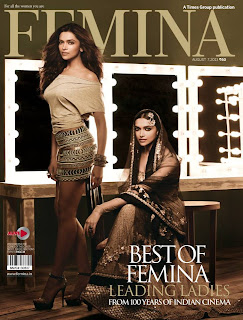 Gorgeous Deepika Padukone graces the cover of Femina August 2013 issue