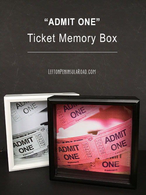 make it admit one ticket memory box left on peninsula road