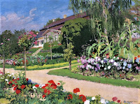 Józef Mehoffer - Dworek i ogród w Jankówce 1914