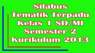 SILABUS KELAS 1 SD SEMESTER 2