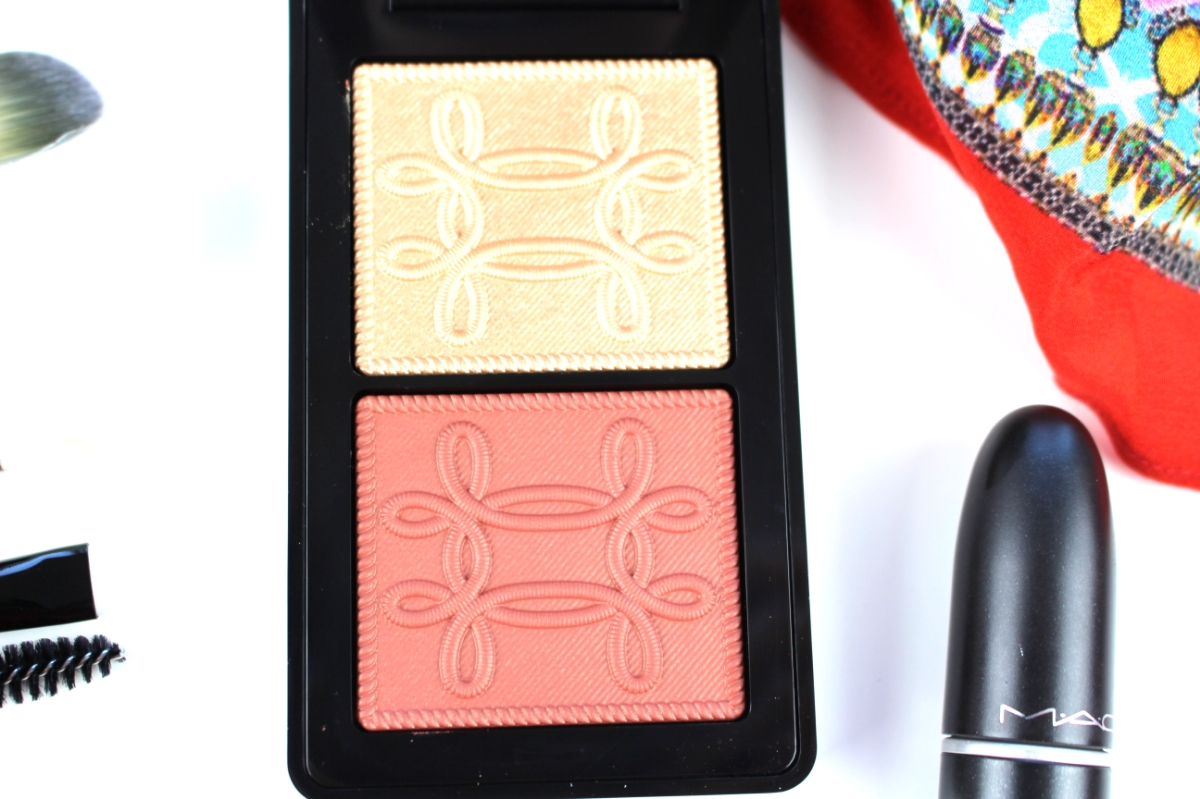 This is a close-up specifically of the MAC Cosmetics Nutcracker Collection Sweet Copper Face Compact.