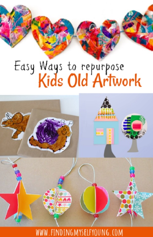 Easy ways to repurpose and upcycle kids artwork