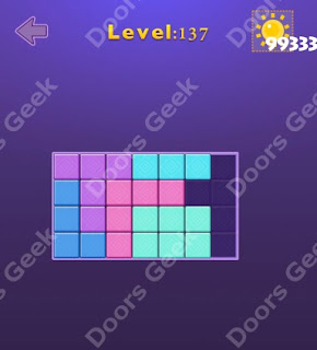 Cheats, Solutions, Walkthrough for Move Blocks Easy Level 137