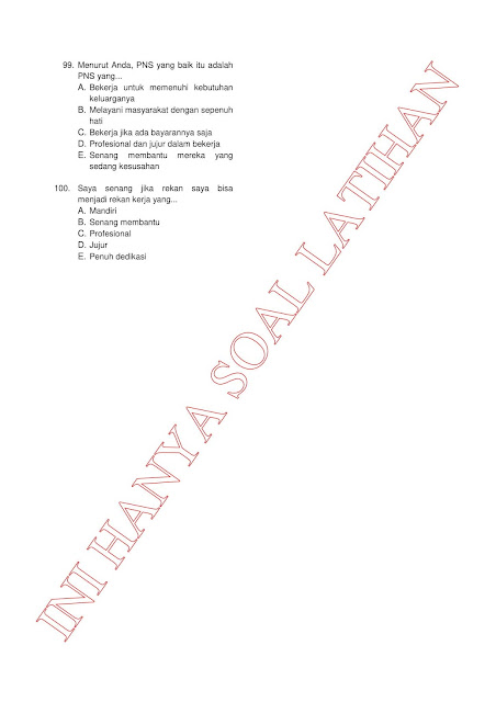 300+ Latihan Soal Tes CPNS SKD (TWK TIU TKP) 2021 + Kunci Jawaban (Bagian 2)