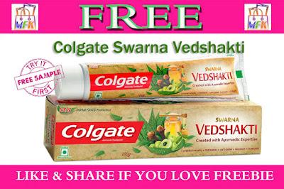 Free Sample Colgate Swarna Vedshakti Toothpaste
