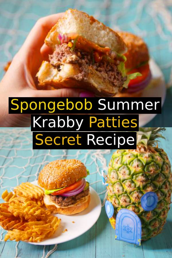 Spongebob Summer Krabby Patties Secret Recipe - Don't let Plankton know we've cracked the secret recipe. #krabbypatties #patties #secretrecipe #summerrecipe #summerfood #burger #burgerrecipe #hamburger #sandwich #spongebob #dish #maindish #dinnerrecipe #easydinnerrecipe