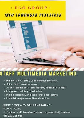 Loker Kupang Hawaii Cafe Sebagai Staff Multimedia Marketing