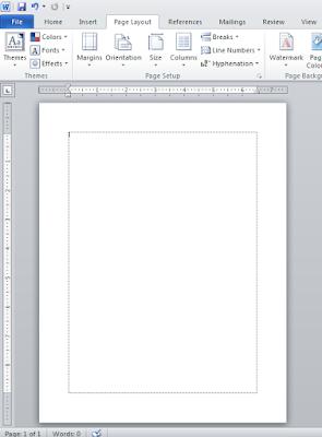 Cara menampilkan garis di tepi/ text boundaries pada Word 2010