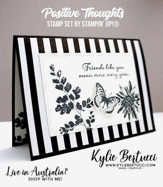 Positive Thoughts Stamp Set with the Coordinating Dies