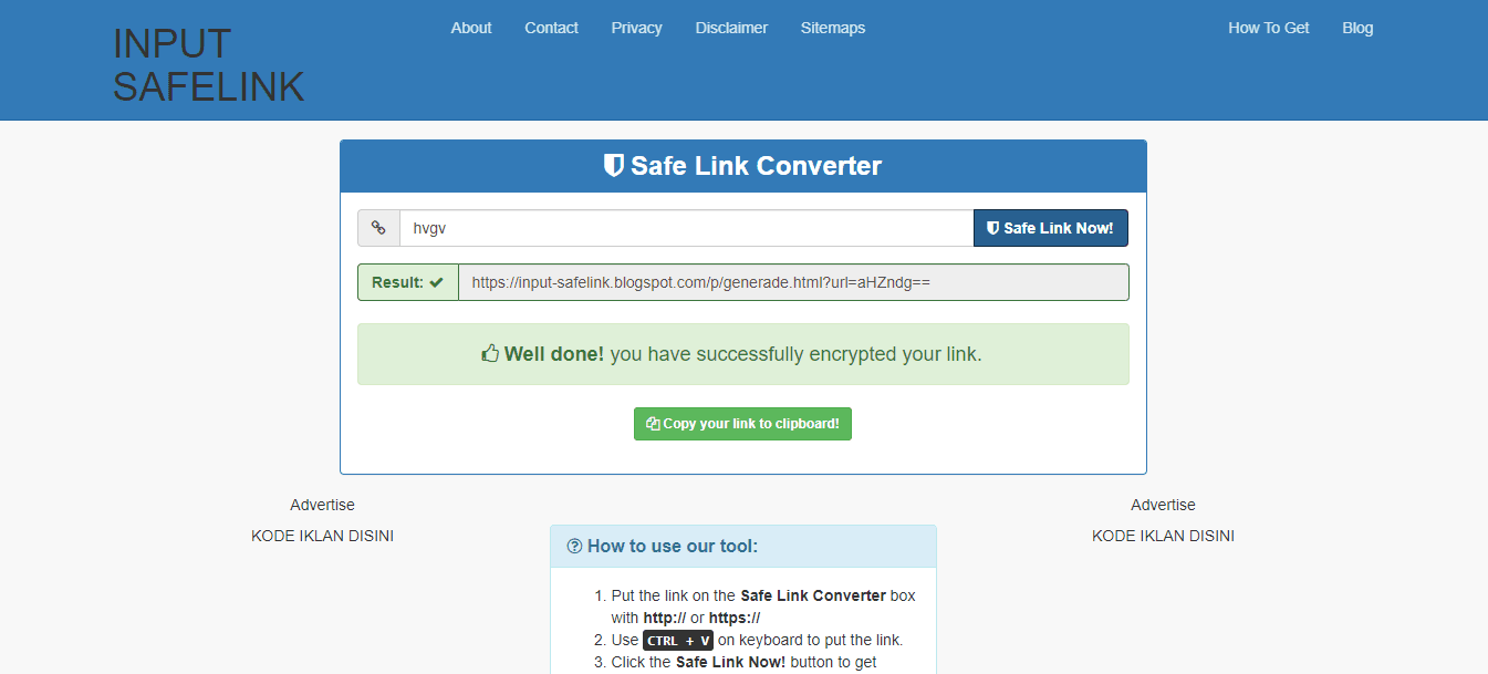 Free Template Safelink Converter Untuk Blog Download