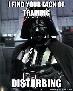 Star Wars Darth Vader finds my lack of running disturbing.