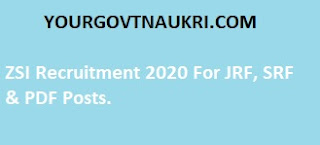 You can see here all ZSI Recruitment 2020 details such as the Zoological Survey of India salary, selection process, eligibility, qualification, age limit, ZSI notification 2020, application fee, and application dates.