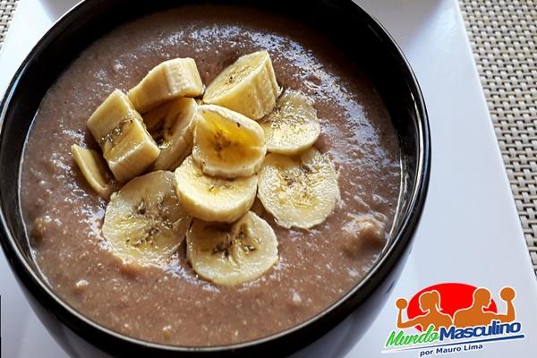Mingau Proteico de Chocolate com Banana