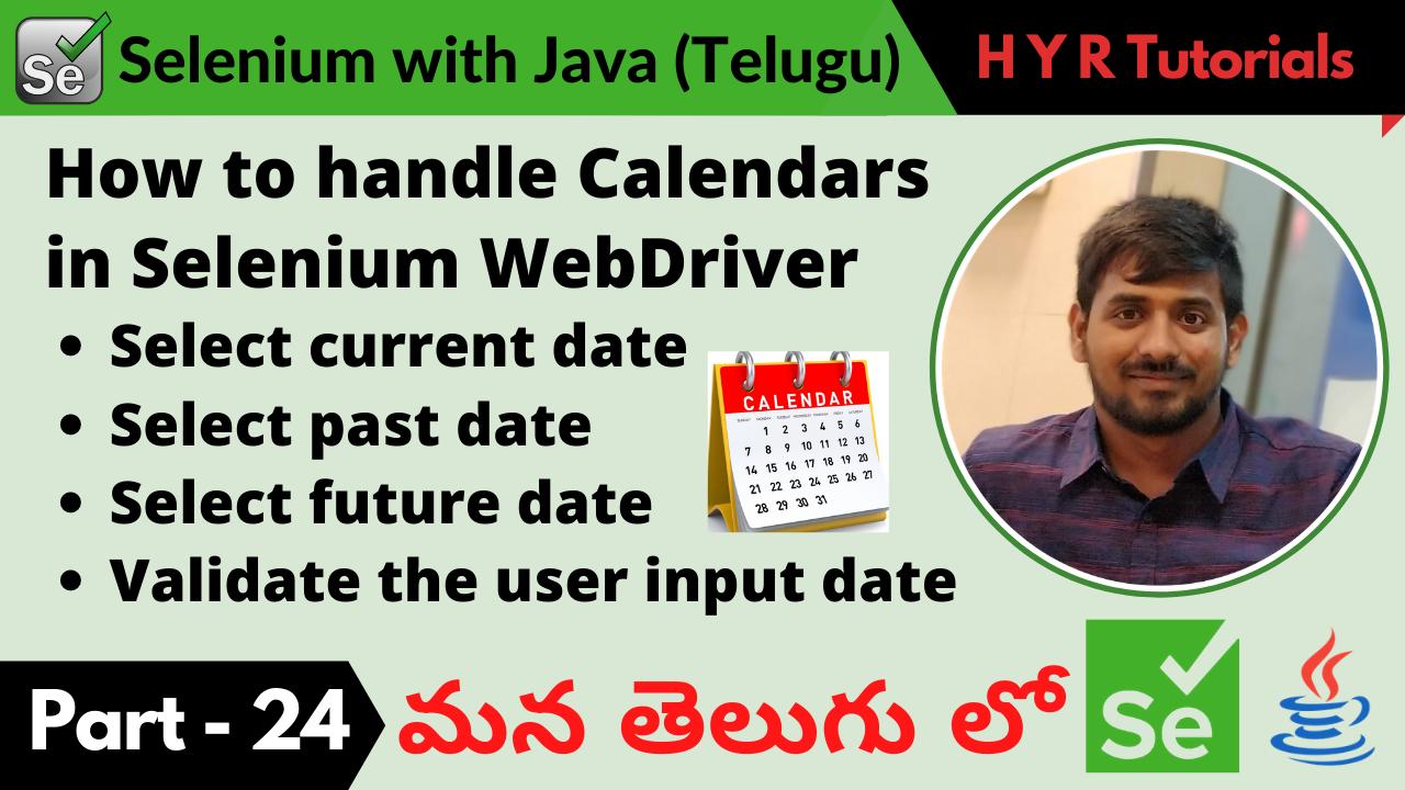How to handle Calendars using Selenium WebDriver