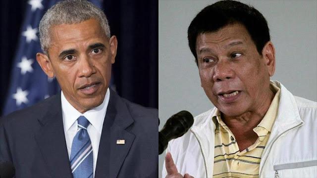 """Iré a Rusia"": Presidente filipino manda a Obama al 'infierno"