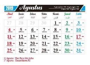 hari penting nasional dan internasional bulan agustus 2019-hari peringatan-hari libur-tanggal merah-cuti bersama bulan agustus-libur sekolah