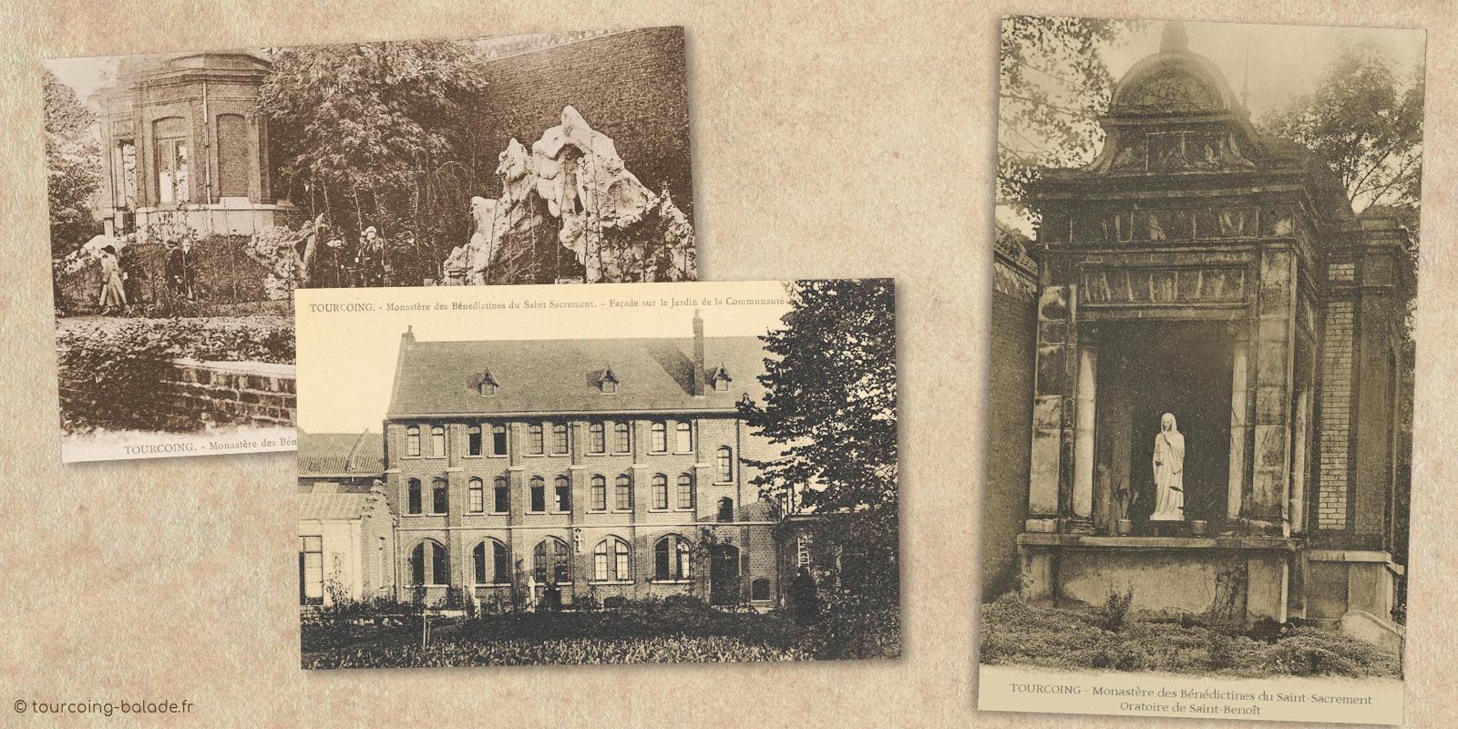 Cartes postales anciennes - Monastère Bénédictines Tourcoing
