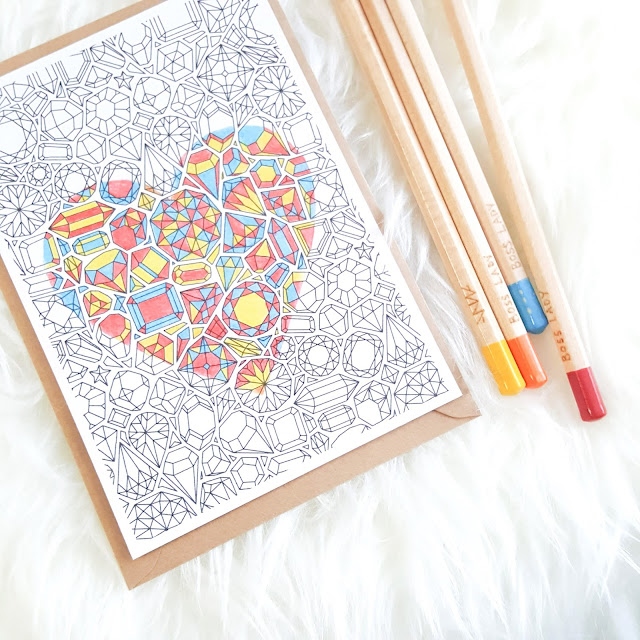 colouring in card