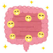 元気な腸のイラスト
