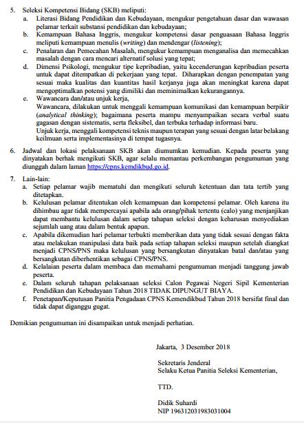 Download Hasil Seleksi Kompetensi Dasar (SKD) Penerimaan CPNS Kemendikbud Tahun 2018