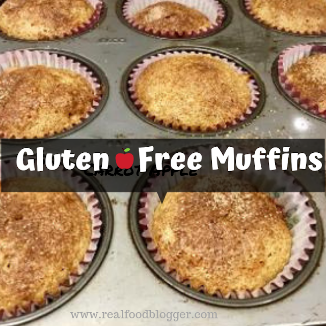 apple carrot gluten free muffins @ www.realfoodblogger.com