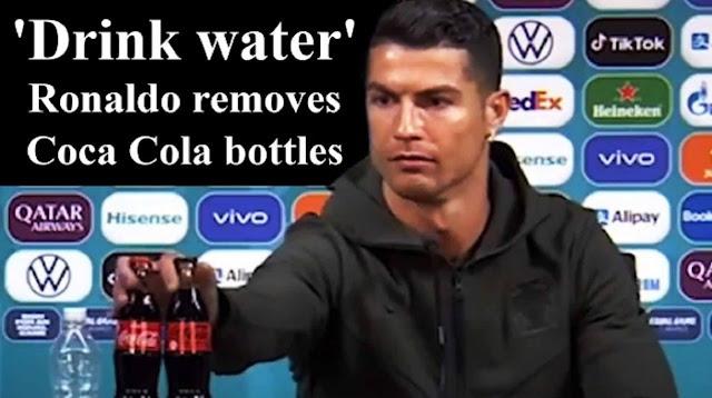 Ulah Ronaldo Geser Botol Coca-Cola Bikin Saham Anjlok, Sponsor Euro 2020 Itu Rugi Rp57 T