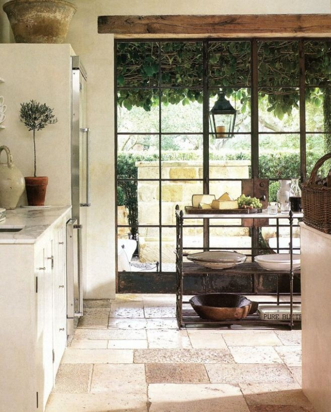 Lunch & Latte: Space: A Texan Kitchen With Metal-framed Doors