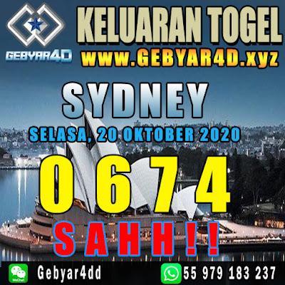 KELUARAN SYDNEY 20 OKTOBER 2020