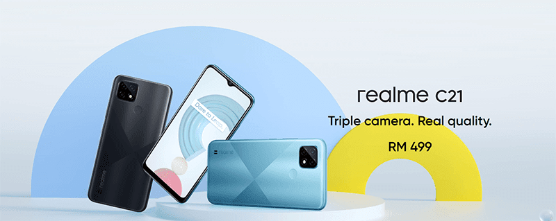 realme C21 budget phone with MediaTek Helio G35 and triple-cam now official